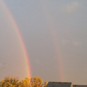 Double Rainbow during Storm