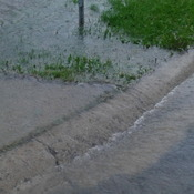 side walk flooded