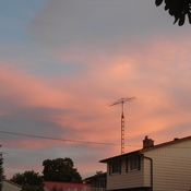 Beautiful sunset over Neustadt, On