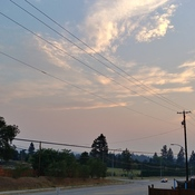 Smoky skies over Kelowna
