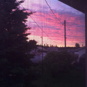 Sunset out my Kitchen Window