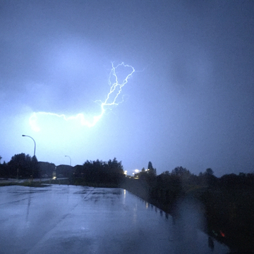 Stormy night in Bonnyville