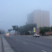 Misty weather at 6:40am
