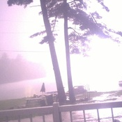 lightning hits lake