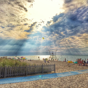 Late afternoon on Grand Bend beach