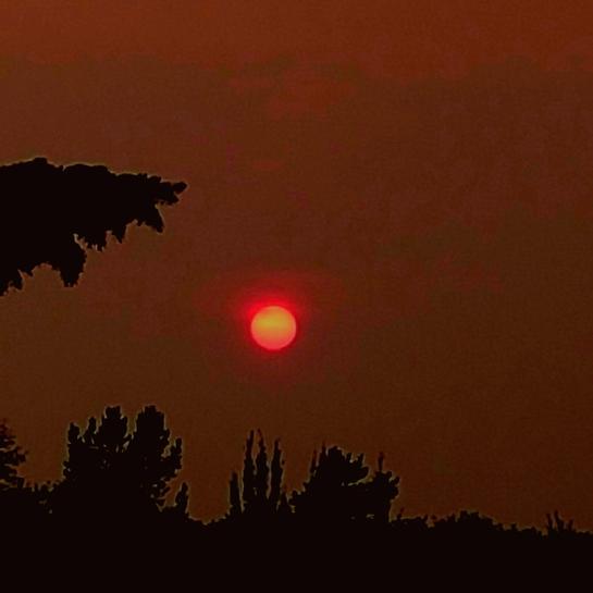 smoky sunset Red Deer, AB