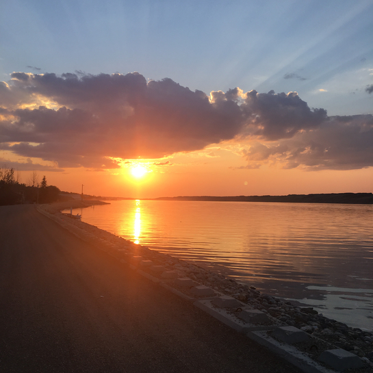 Beautiful Sunset Manitou Beach, Saskatchewan, CA