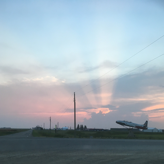Pink sky at night... Brandon, Manitoba, CA