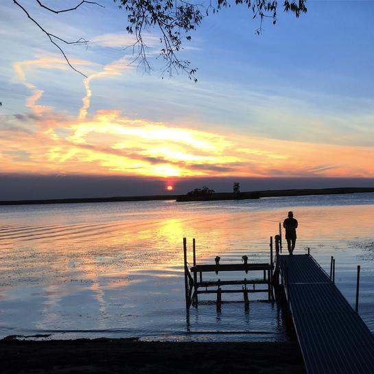 Sunset over Thomson Lake Gravelbourg, Saskatchewan | S0H 1X0