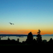 WEST VANCOUVER SUNSET - 8:12 PM August 17, 2017