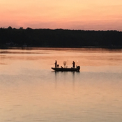 Sunset fishing.