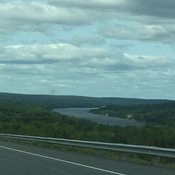 River on the way to Woodstock from Fredericton
