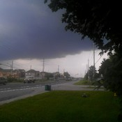 Storm moving over oshawa ontario