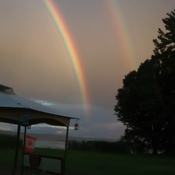 double rainbow at Lake dore ont