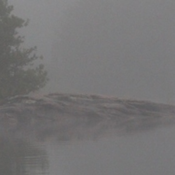 Gull Island, in the morning fog