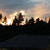 sunset from Dovehill House in Chemainus