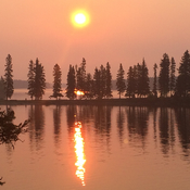 Smokey Morning over Paint Lake