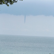 Water spout on Lake Erie south off Port Alma ON.