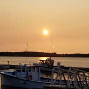 Early morning sunrise on the Richibucto