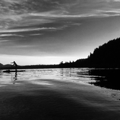 Morning paddle board on cultus lake