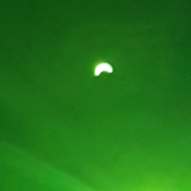solar eclipse picture using welding shade and cell phone camera