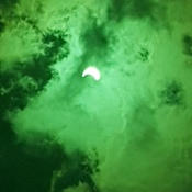 solar eclipse through welders mask