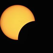 Partial Eclipse and Sunspots