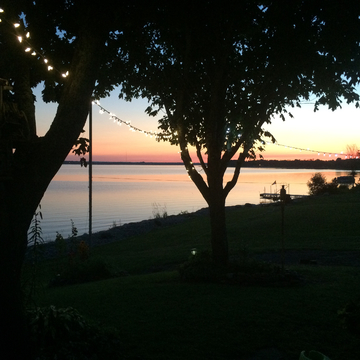 Beauty sunset on the Ottawa river
