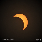 Partial Solar Eclipse 1:42 PM Toronto