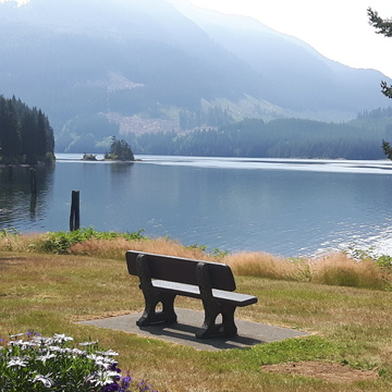 view from Rumble beach, Port Alice, BC