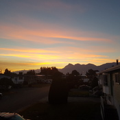 sunrise over mount cheam