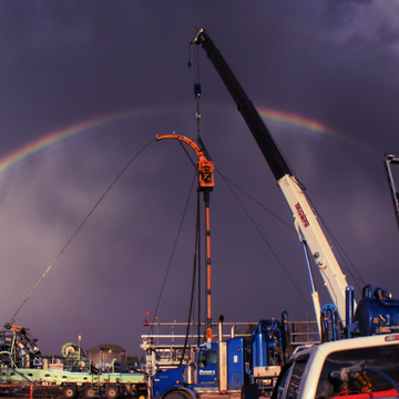 There is oil at the end of a rainbow.