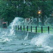 Intense Montreal storm whips up huge crashing waves