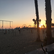 Sunset at Muscle Beach