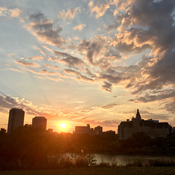 Sunset in Saskatoon