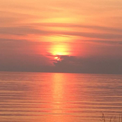 Sunset across Nottawasaga Bay