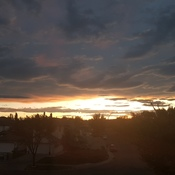 Beautiful September sunset in Calgary