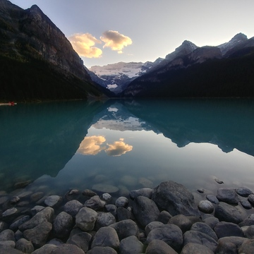 Sunset on Lake Louise
