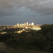 Shot of Calgary from Douglas fern trail