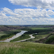 Along the Red Deer River
