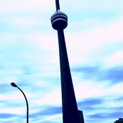 CN TOWER, CLOUDS & TALL POWER!!