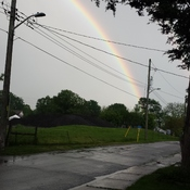 rainbow outside my front door.