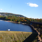 Heading over the Montreal River. Picture looking out from the trestle