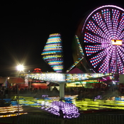 Midway in the Evening at the Milton Fall Fair
