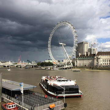 London Eye before the storm.