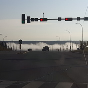 Fog On The Athabasca River This Morning