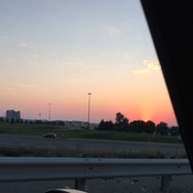 Sunset near highway 400
