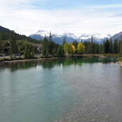 Bow river and the Rockies