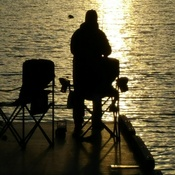 Sunset fishing on Lake of the Woods