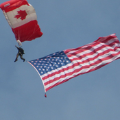 Canadian Skyhawks Parachute Team at Airshow London